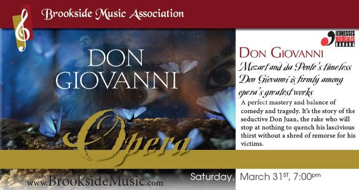 Brookside Music Association presents Don Giovanni